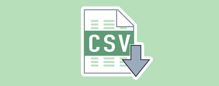 csv import/export