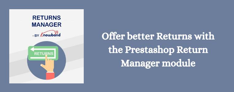 Prestashop Return Manager module Knowband